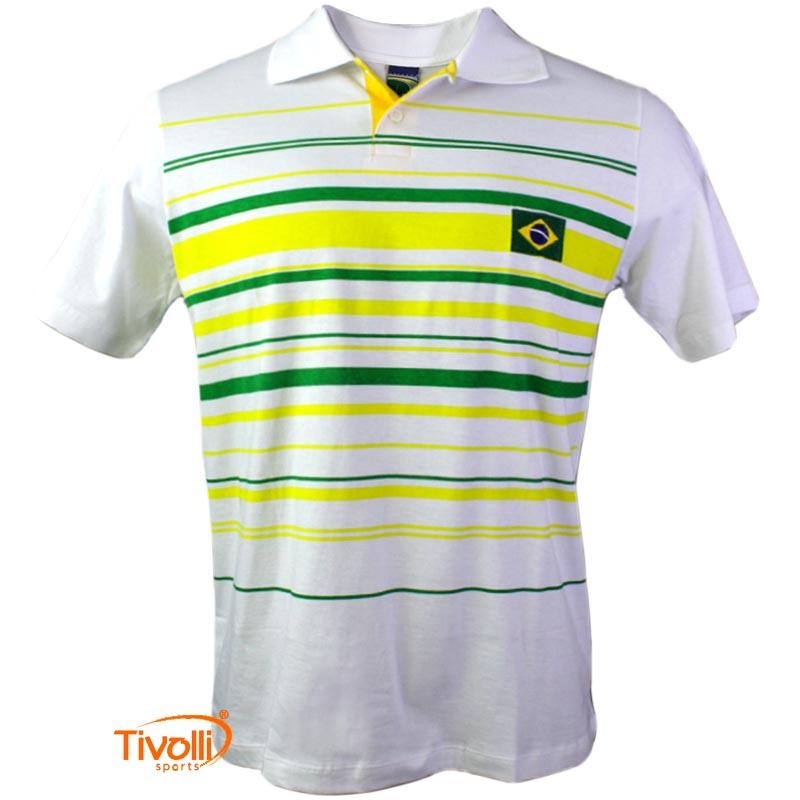 41a7e4670295d Camisa Polo Brasil Braziline   Masculina - Mega Saldão
