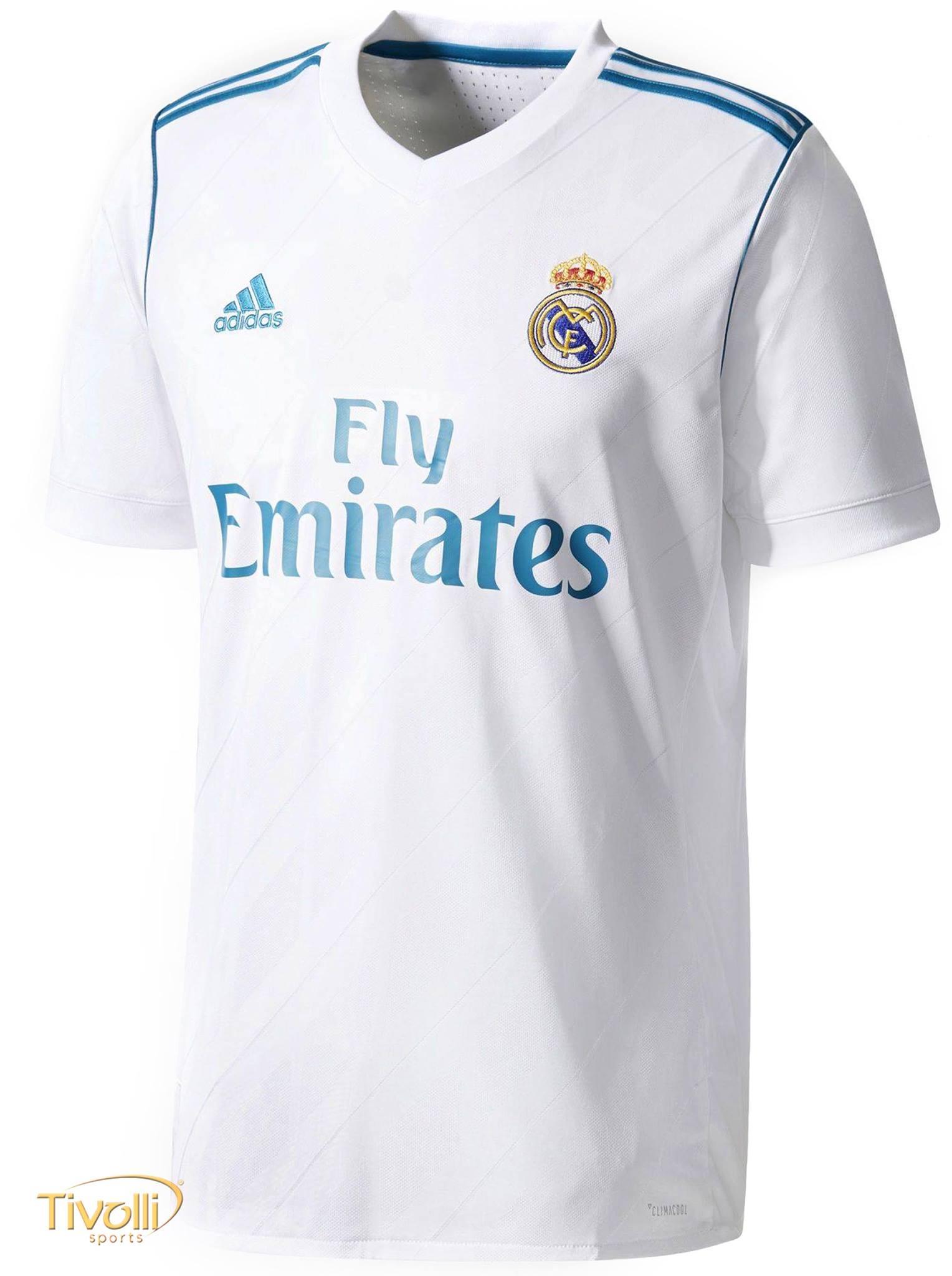 eed5eca134 Camisa Real Madrid I Home 2017 2018 Adidas Infantil   - Mega Saldão