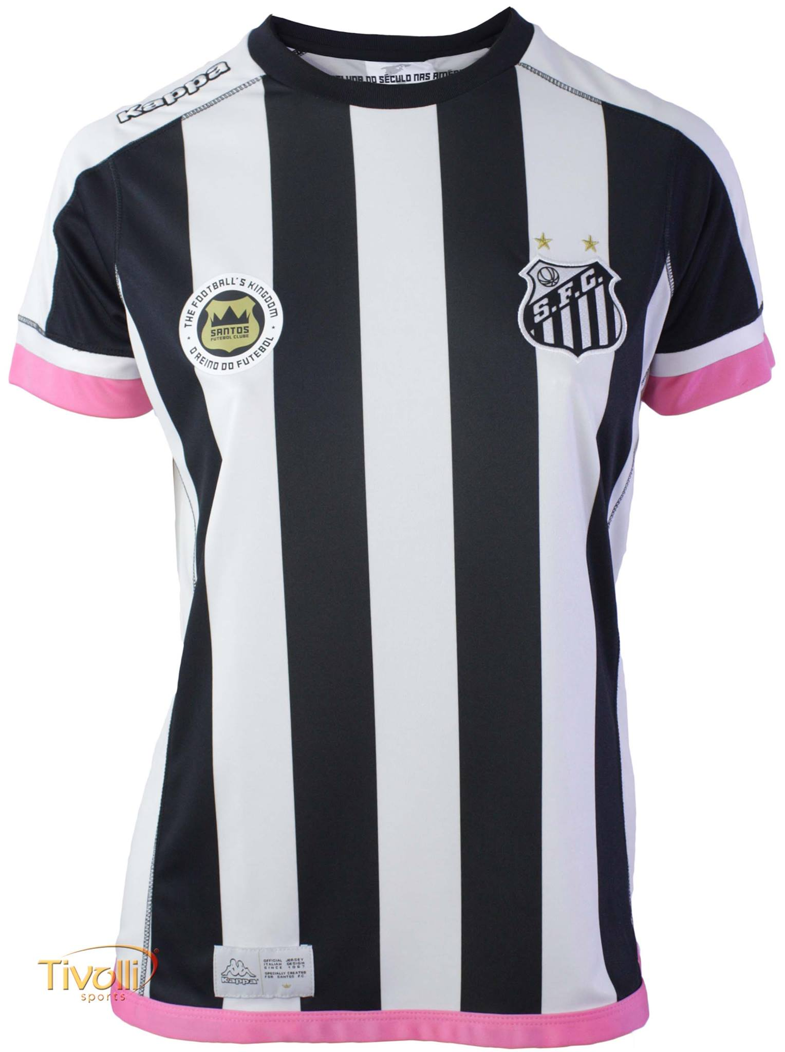 72d309c46e472 Camisa Santos II Away 2017 18 Feminina Kappa   - Mega Saldão
