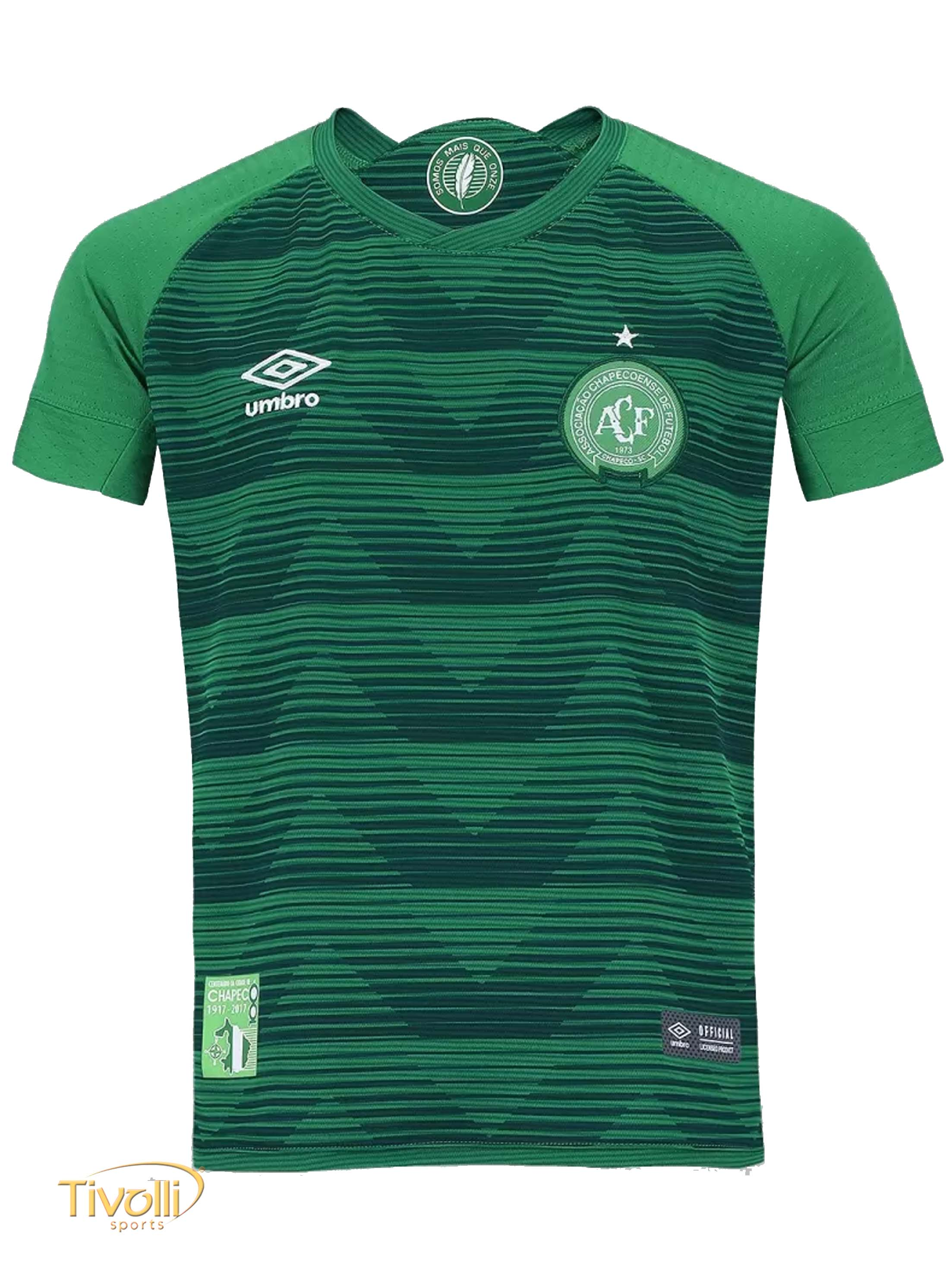 Camisa Chapecoense I Home 2017 2018 Umbro Infantil a81bd99122858