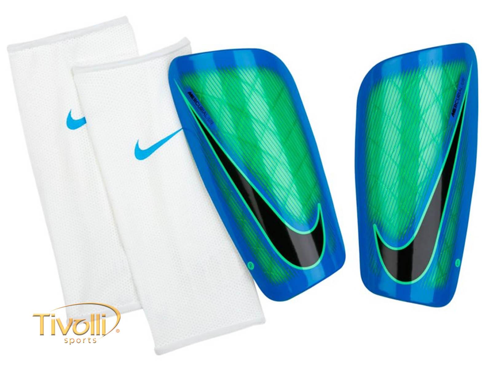 ... Caneleira Nike Mercurial Lite Azul f458d264150fa