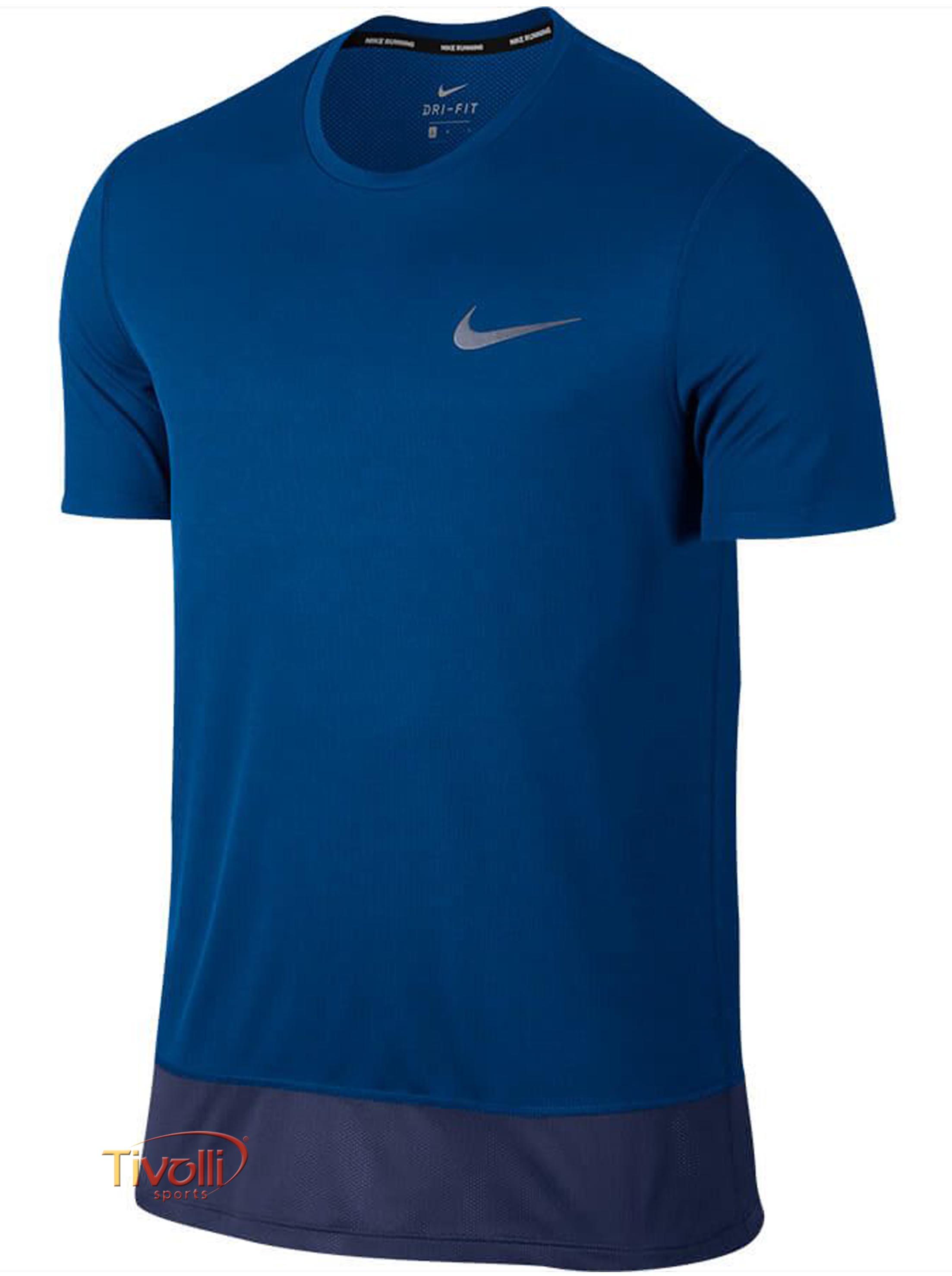 e311959a92adf Camiseta Nike Breathe Rapid   Azul Royal e Marinho