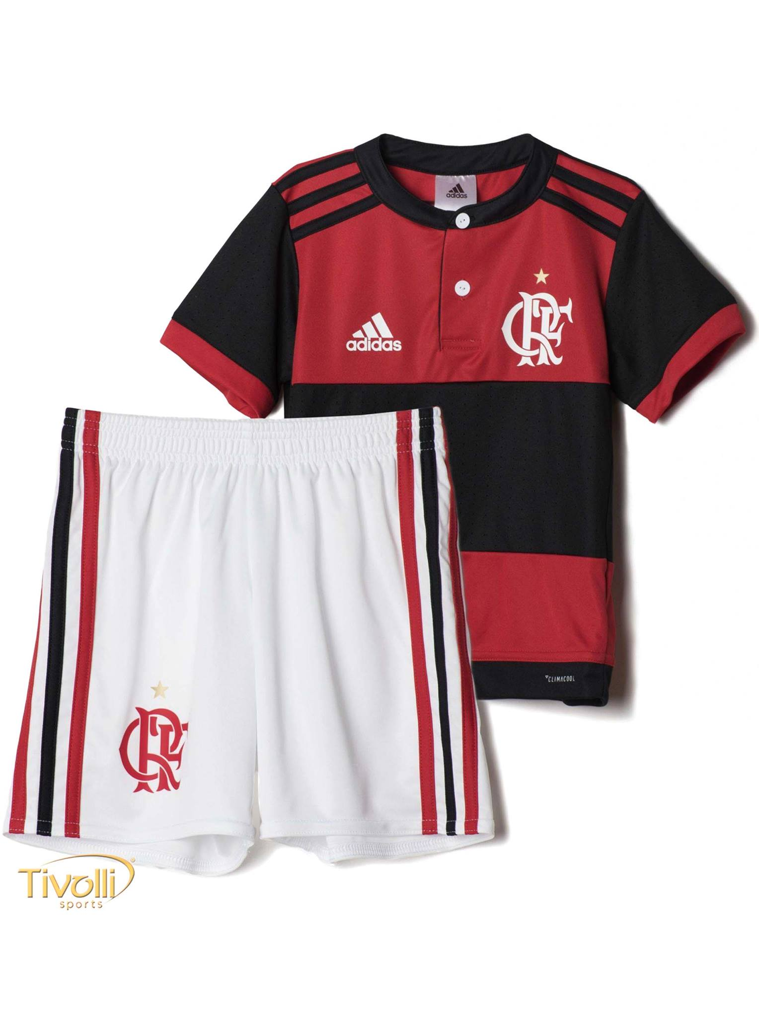 Mini Kit Flamengo I Home 2017 2018 Infantil Adidas     8f9e7976b5153
