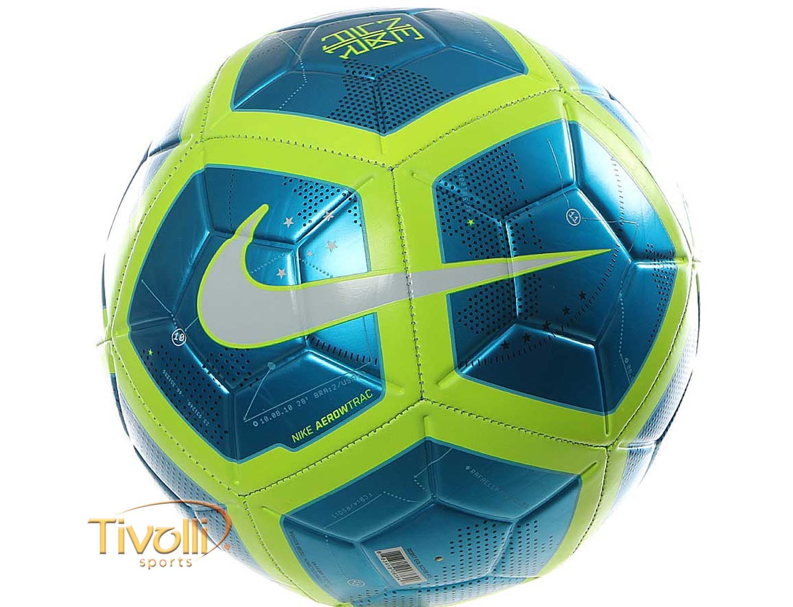 Bola Nike Neymar Strike Campo   Azul e Verde   6fd2d5eff0fd5