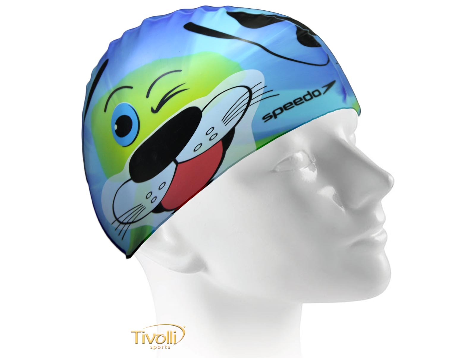 Touca de Natação Speedo Dog Cap   Infantil Colorida   aca14911cff
