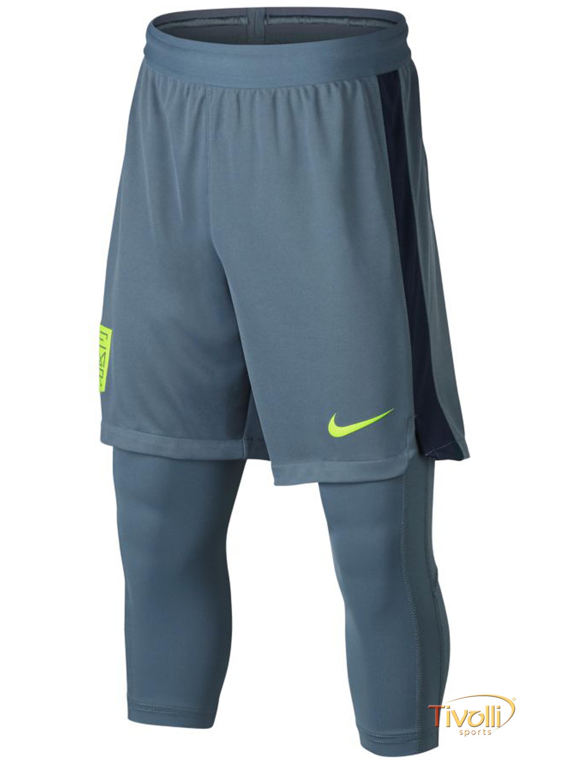 04768f8947e67 Shorts-Calça Nike Neymar Dry Squad 2In1 Infantil