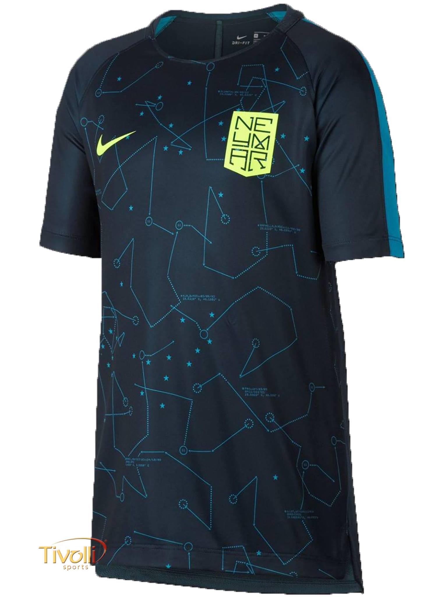 259d518b7a283 Camiseta Nike Neymar Dry Squad Top Infantil   Azul e Verde