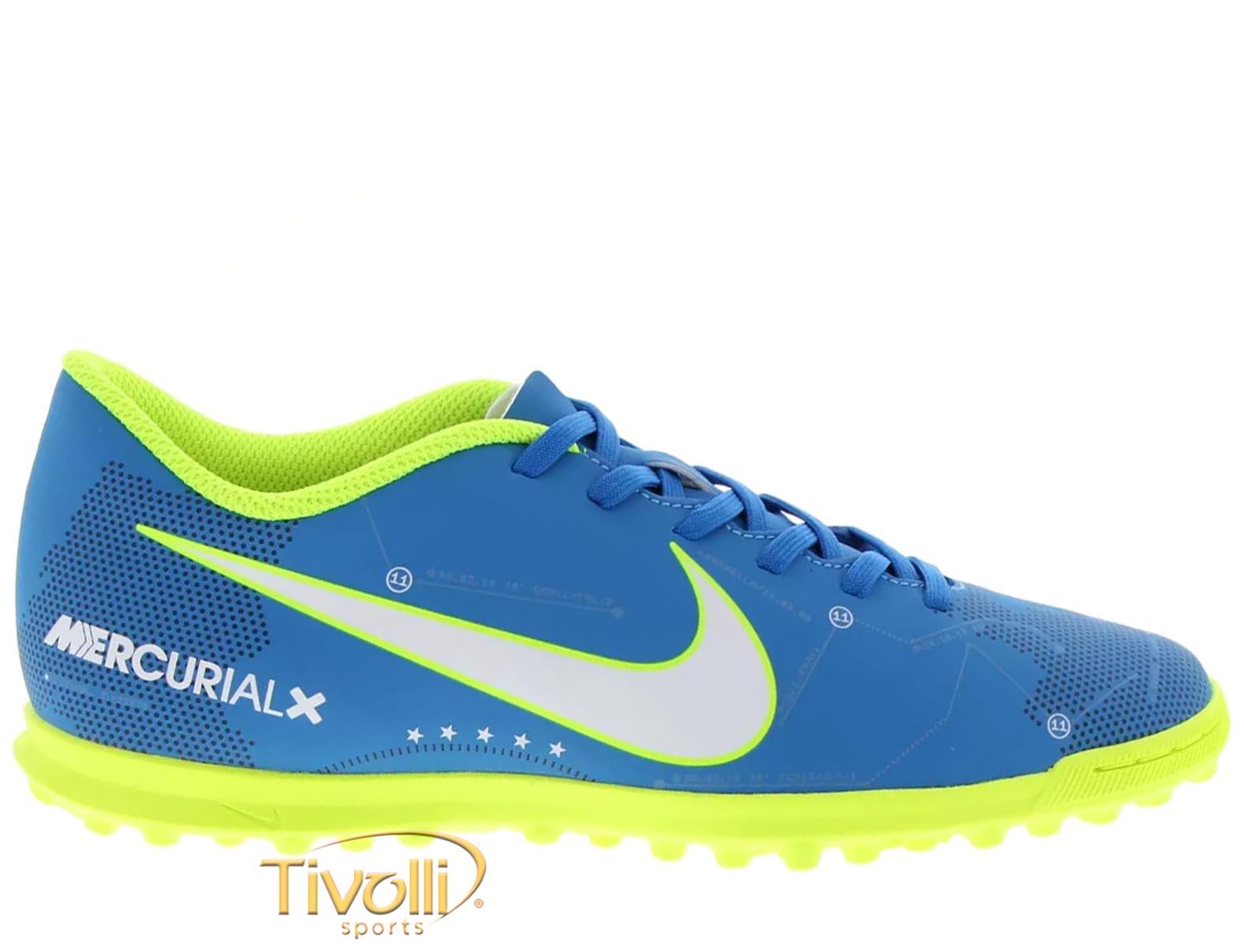 Chuteira Nike JR. MercurialX Vortex III Neymar TF Society Infantil     ab3c213df52a3