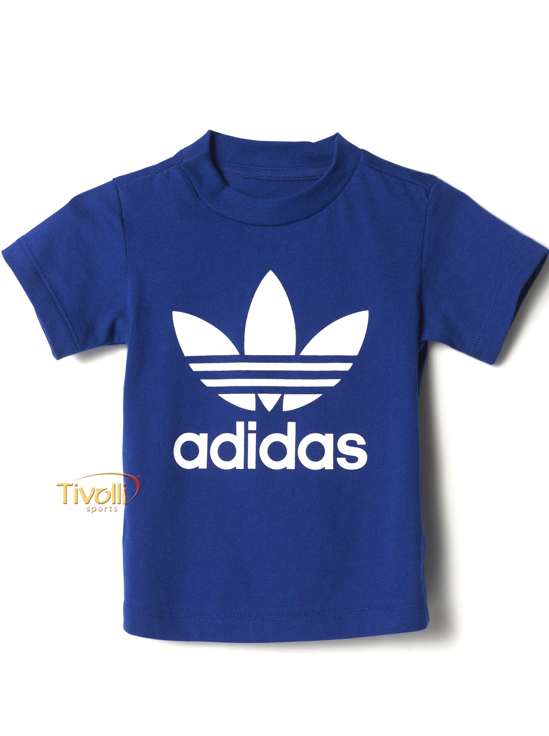 d37b7915c5 Camiseta Adidas Trefoil Infantil   Azul