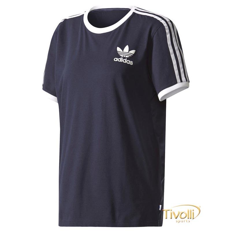 919bd9f38 Camiseta Adidas 3-Stripes > Azul Marinho e Branca >