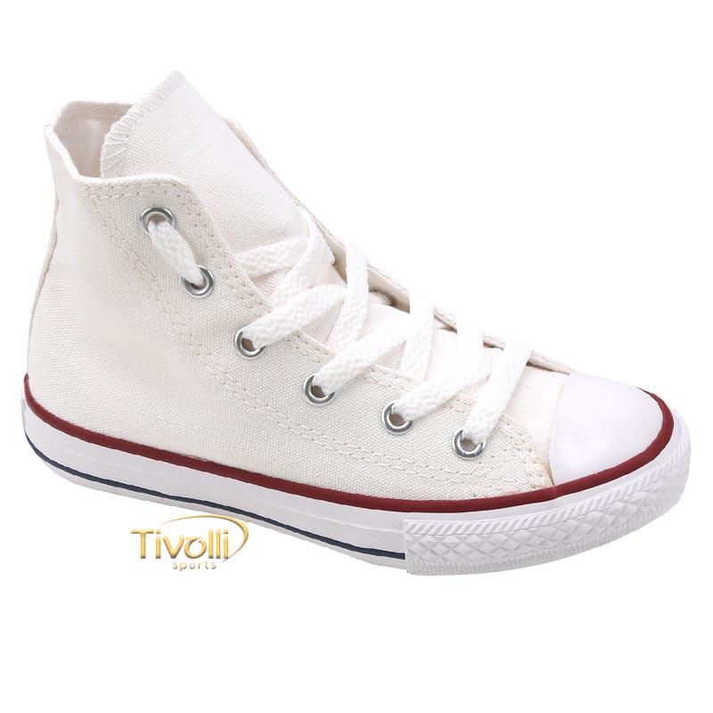 85401be7c3 Tênis All Star Converse Chuck Taylor Hi Infantil   cano alto branco ...