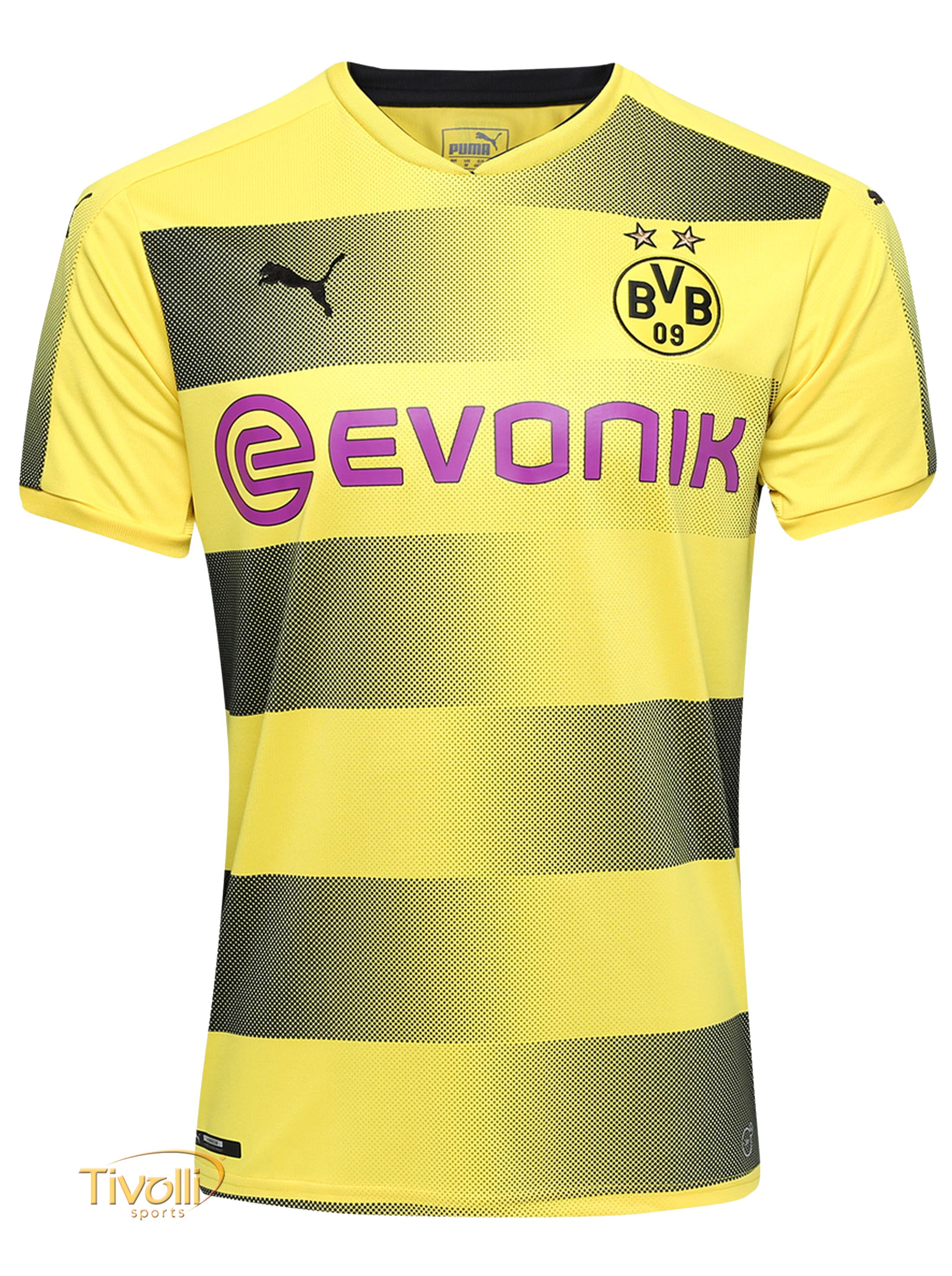7fa2ee009f514 Camisa Borussia Dortmund BVB I Home Puma 2017 18 Infantil
