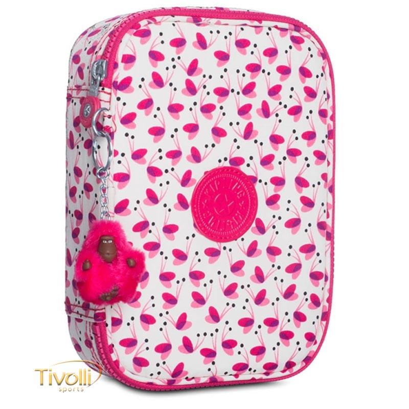 8e6ec7498 Estojo Kipling 100 Pens Pink Wings > Branco e Rosa >