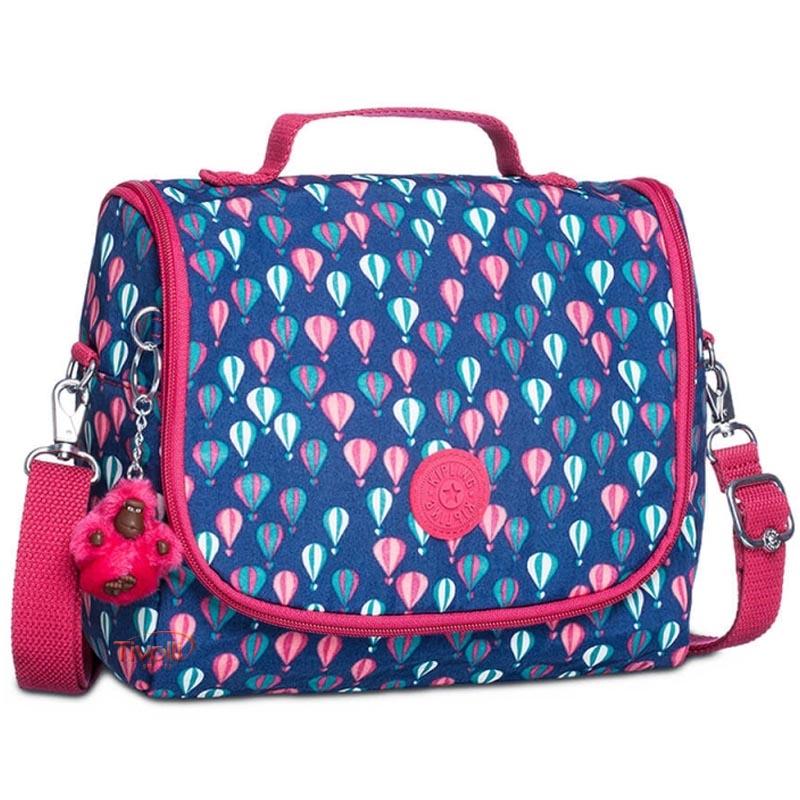 fa765c4c4 Lancheira Kipling New Kichirou Balloon PR > Azul e Rosa Estampada >