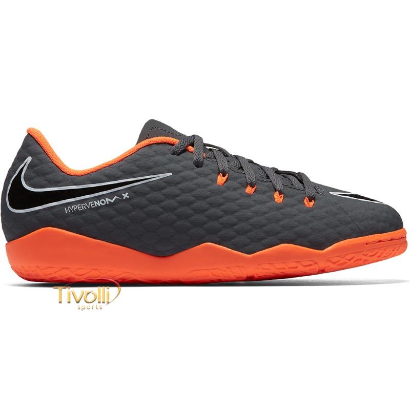Chuteira Nike JR. HypervenomX Phantom III Academy IC Futsal Infantil     96461c3b2c97e