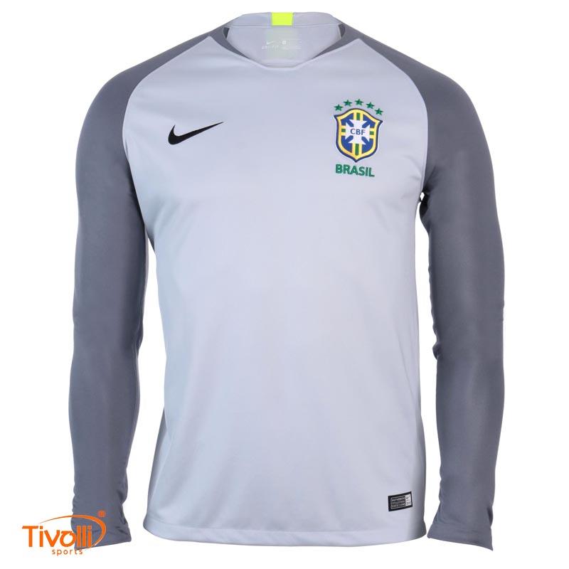 52deeef013185 Camisa Brasil CBF Goleiro 2018 Nike   Masculina