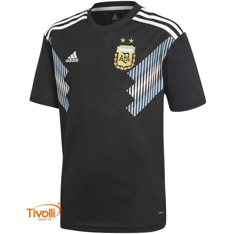 Camisa Argentina Infantil II 2018 Adidas   Away   1e87d1e3115