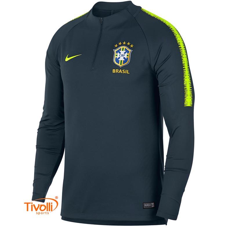 4d8a49a8a68f Camisa Brasil CBF Treino Nike > Drill Manga Longa Masculina >