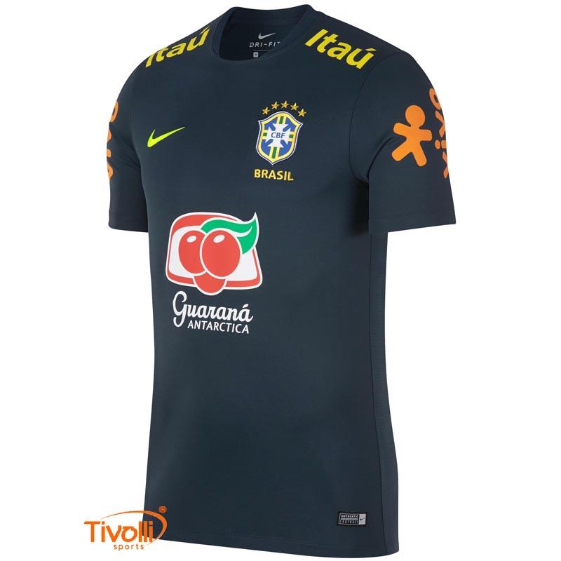 ea525c090 Camisa Brasil Nike Treino com Patrocínio   CBF 2018 Masculina