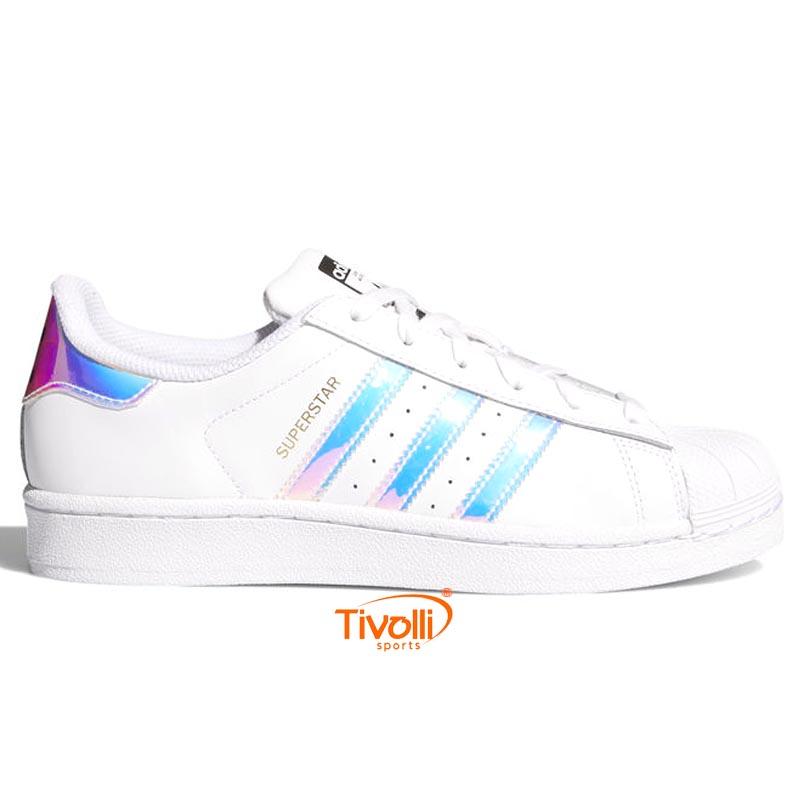 845e1a0be21 Tênis Adidas Superstar J   Holográfico