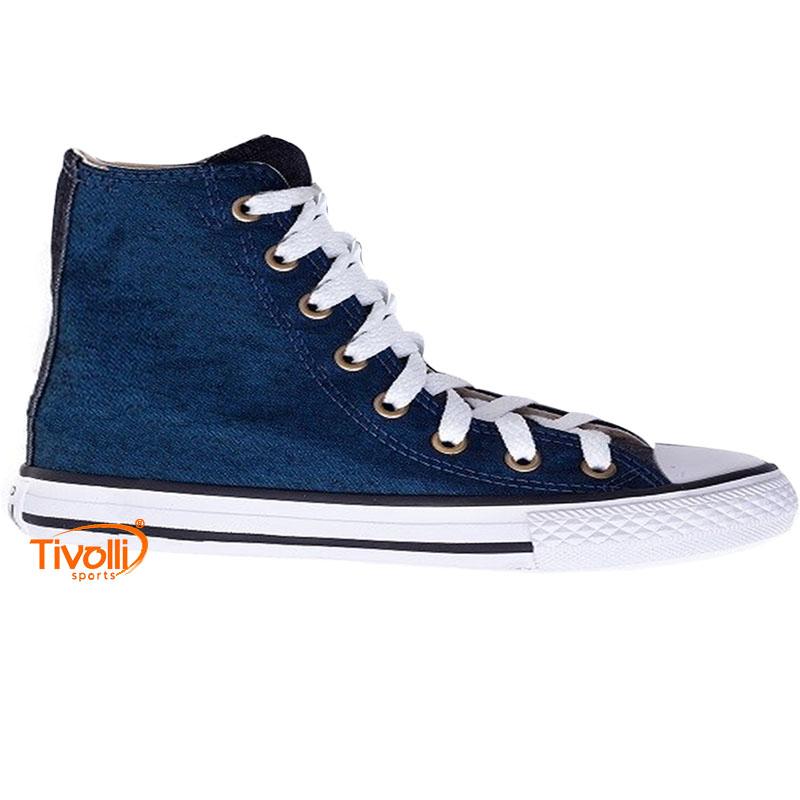 Tênis Converse All Star Chuck Taylor Jeans Cano alto azul petróleo