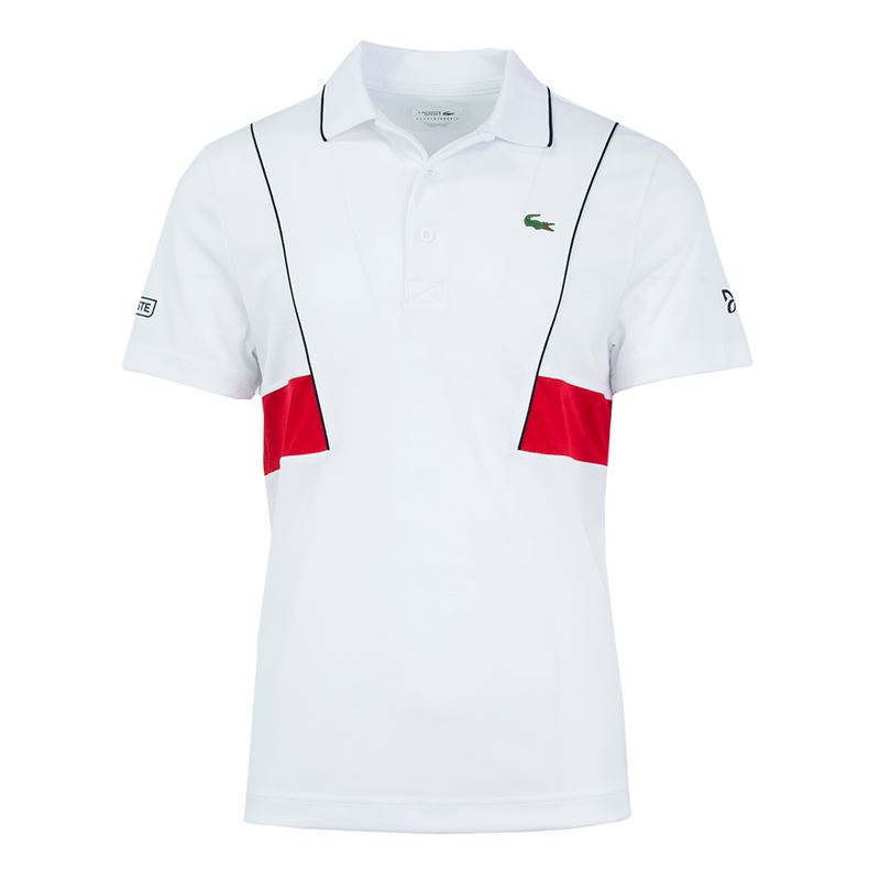 24c98faf3dfbf Camisa Polo Lacoste Sport   Novak Djokovic Collection Masculina