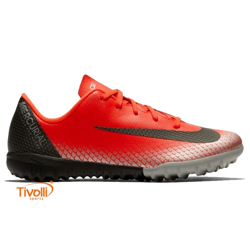 Chuteira Nike JR. MercurialX Vapor 12 Academy PS CR7 Infantil TF Society dce4beb0872ff