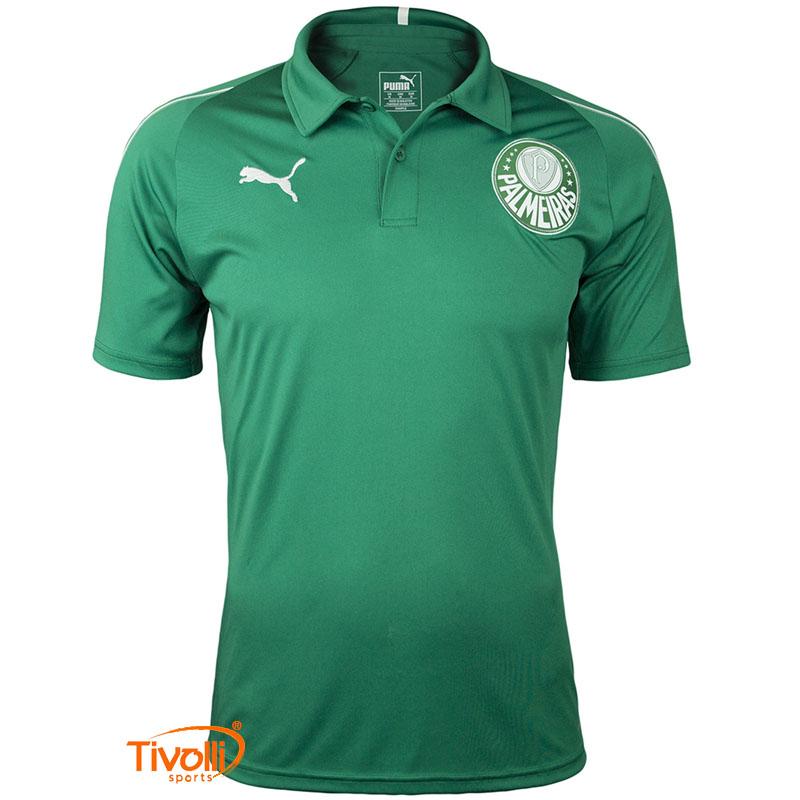 Camisa Polo Palmeiras Puma 2019 20   Masculina   9515bee67018e