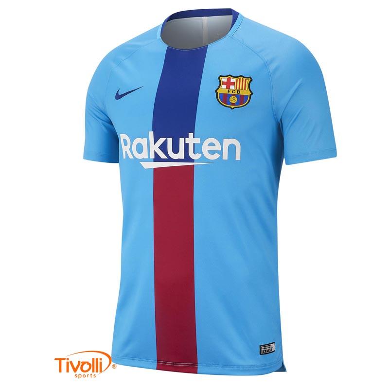 Camisa Barcelona Nike   Treino 2019 Infantil   f187f223eb1f2