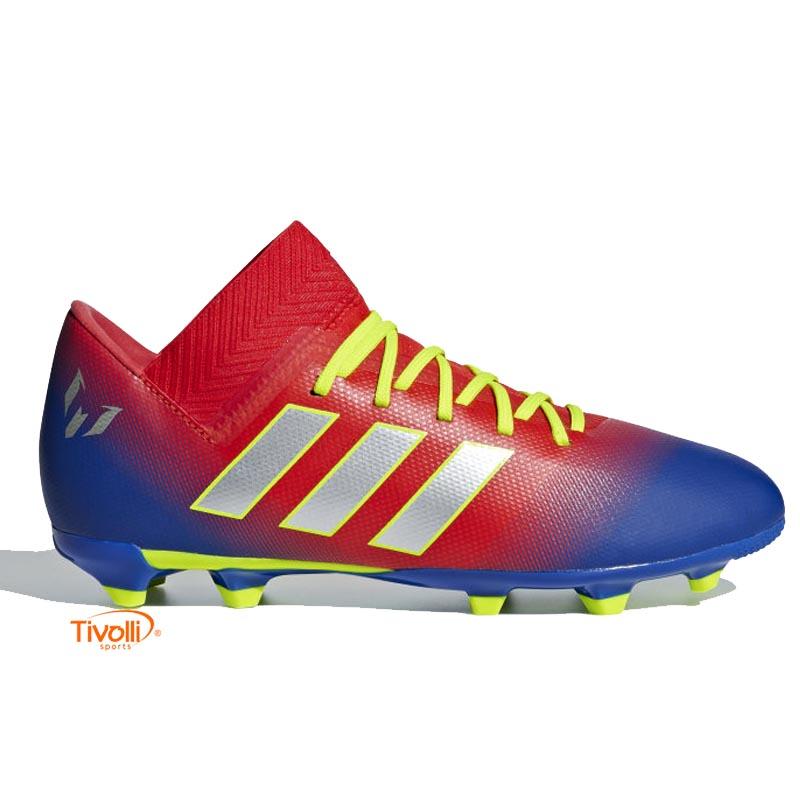 0f52a8d8bbbeb Chuteira Adidas Infantil Messi Nemeziz 18.3 FG Campo