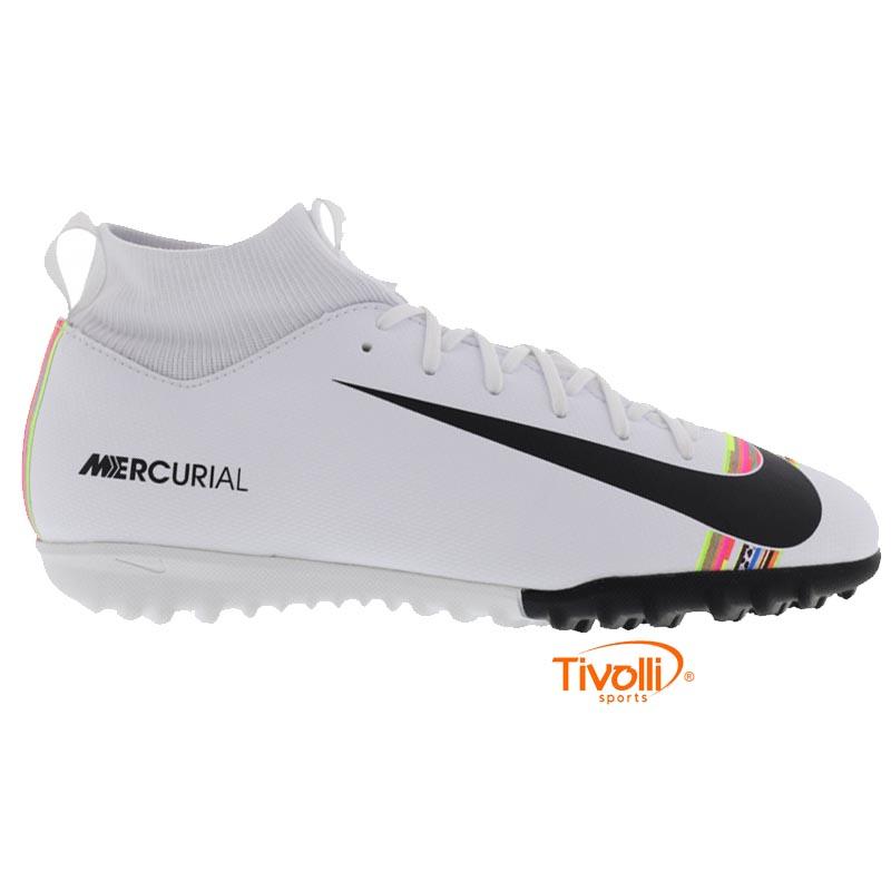 77e6947ae5914 Chuteira Nike Mercurial Superfly 6 Society Infantil Academy GS TF CR7 -  Mbappé