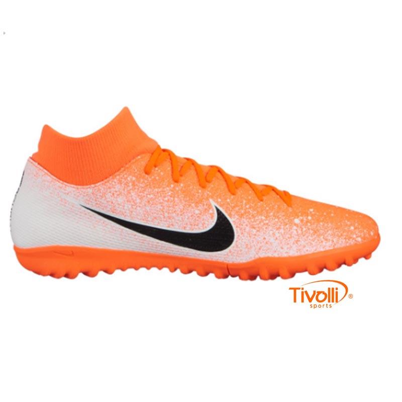 8230cf5f60fac Chuteira Nike Mercurial Superfly 6 Society Academy GS TF CR7 - Mbappé
