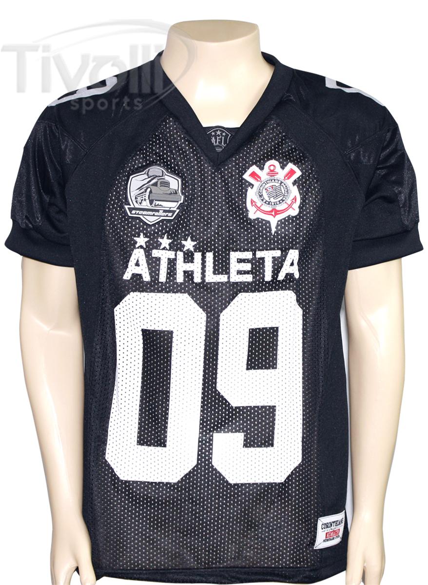Camisa Athleta Futebol Americano Corinthians Preto brilhante cap3-101-03 77d4286b7b1ff