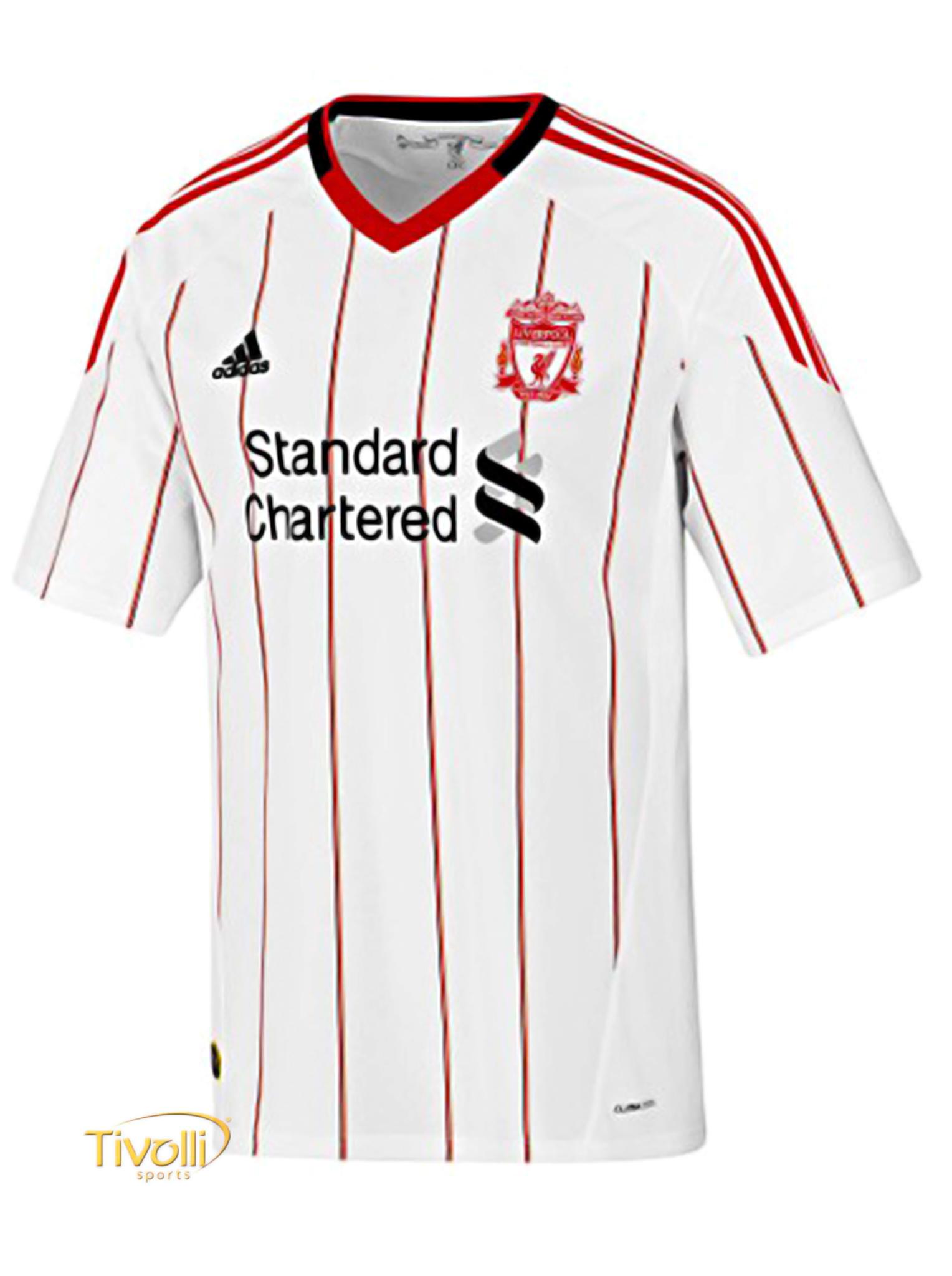 Black Friday - Camisa Liverpool II Away Adidas 2010 Branca e Vermelha 744cafc04e60a