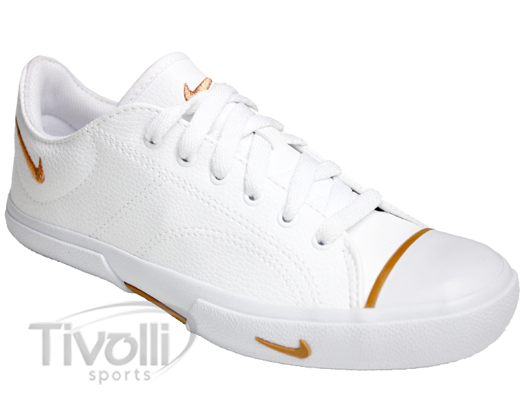 10a8fd9a41f Tênis Nike Biscuit SL BR   Branco com detalhes em bronze