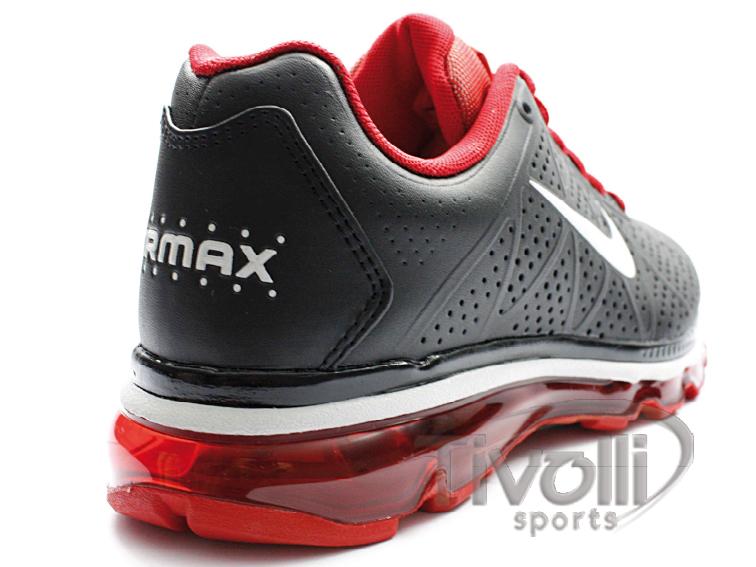 timeless design b4b15 7b145 Tênis Nike Air Max+ 2011 Lea Preto e Vermelho - Ref  456325-016