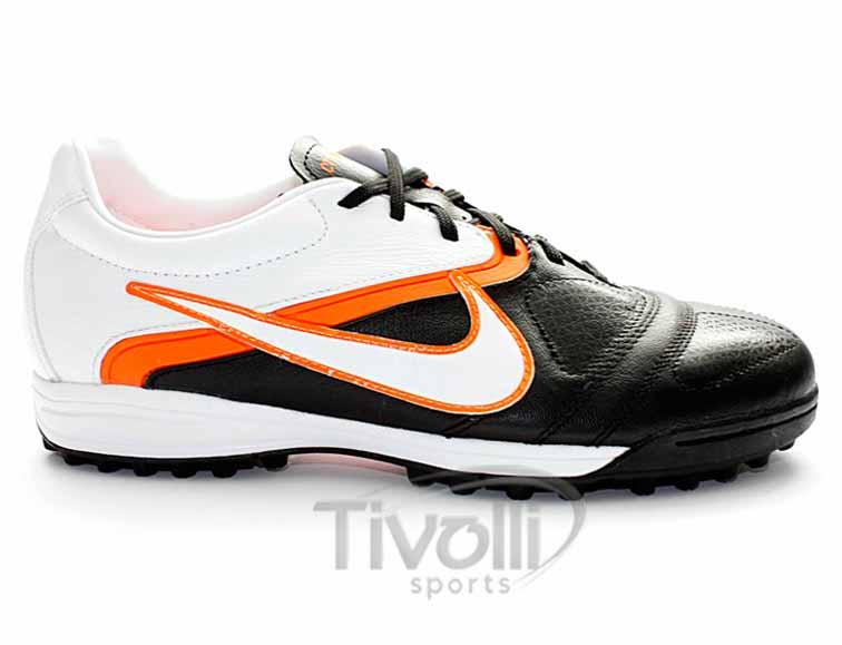 acec32edcc Black Friday - Chuteira de Society Nike CTR 360 II Libretto TF Preto branco  Laranja - Ref  429543-018