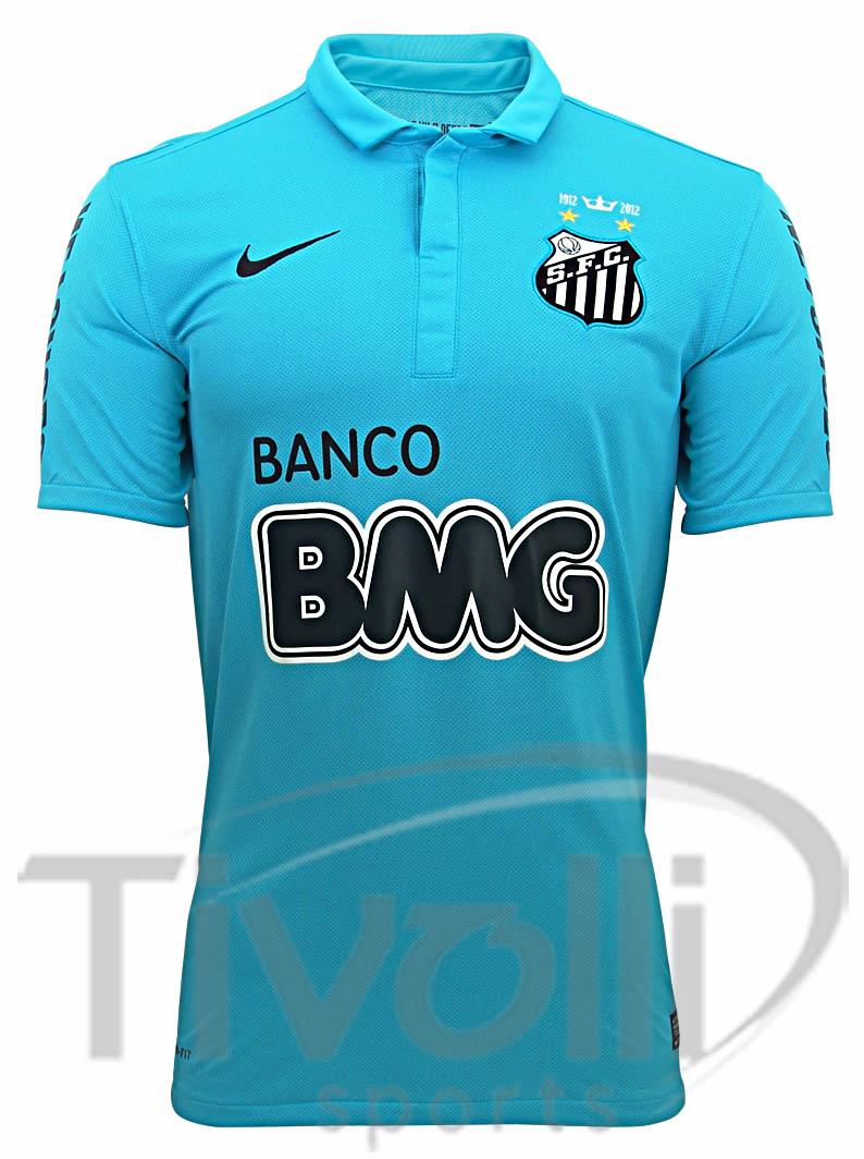 814f0e4190 Camisa Nike Santos III 2012 s nº - Centenário   Adulto - Azul