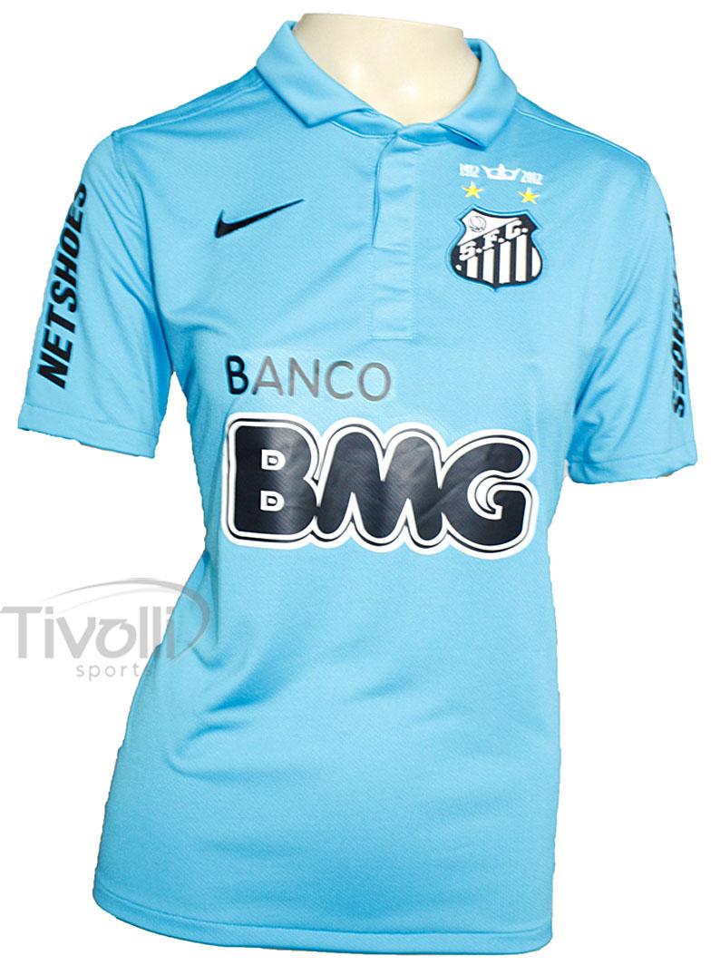 16620ab91739b Camisa Nike Santos III 2012 s nº - Centenário Feminino Azul - Ref   535217-400