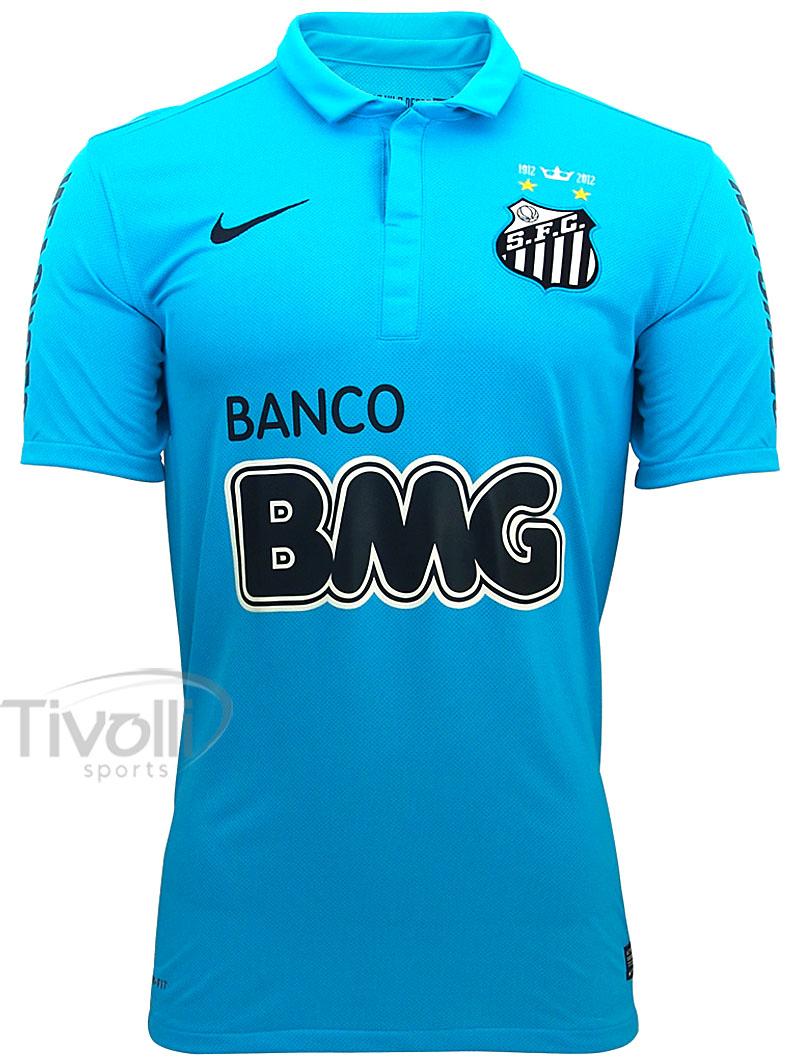 22284124701d5 Camisa Infantil Nike Santos III 2012 s nº Centenário Azul - Ref  535214
