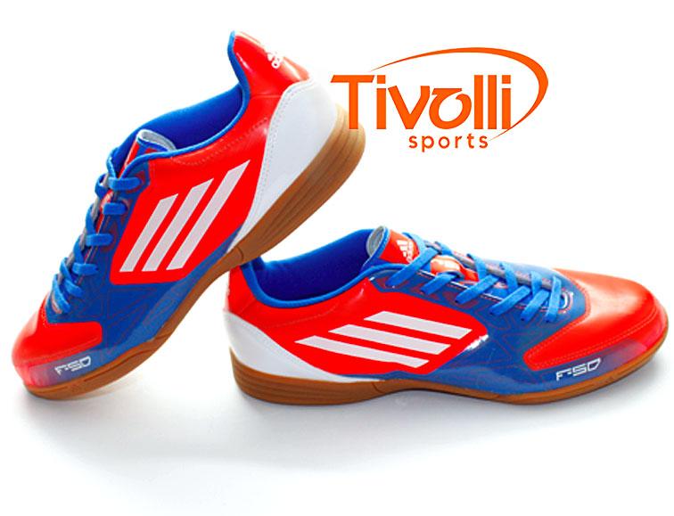 f9ea60f1ac Black Friday - Tênis Adidas F5 indor Futsal   Azul e Laranja