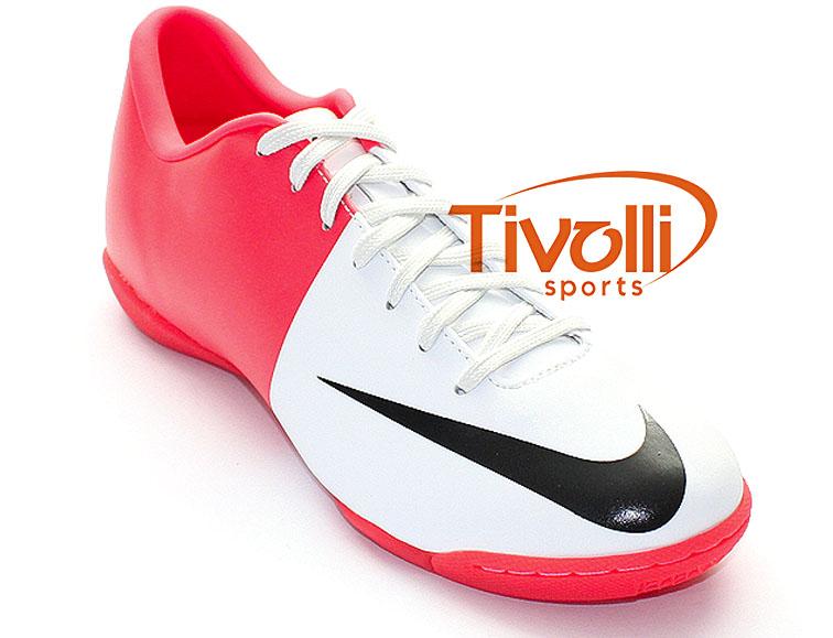 dd52083e85433 Chuteira Nike Mercurial Victory III IC > Branco/Rosa - Ref: 513998-106 >