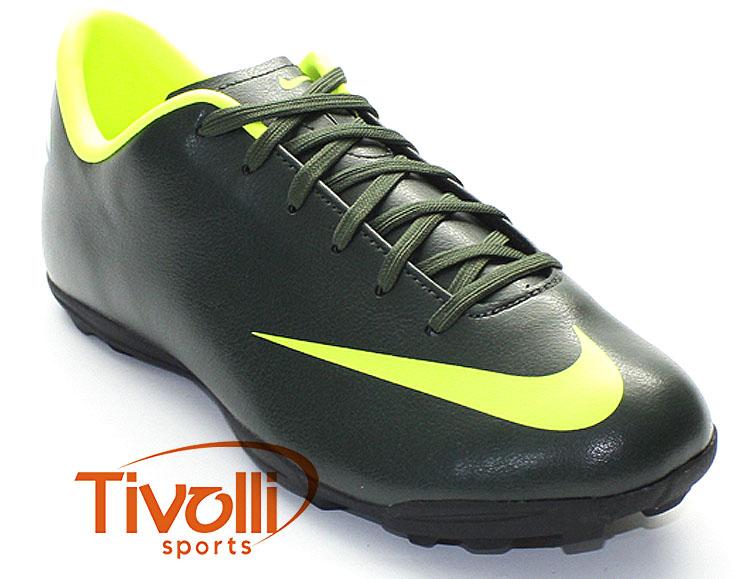 new arrival 3eb0d 83277 Chuteira Nike JR Mercurial Victory III TF Verde Musgo/Limão - Ref:  514743-300