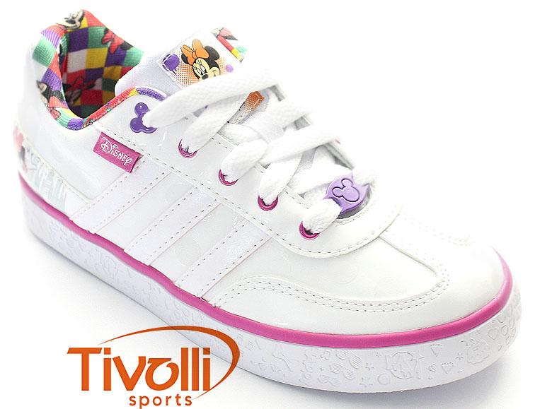 7ddbc77644e Tênis Adidas Disney Mickey   Friends C   Branco Rosa - Minnie