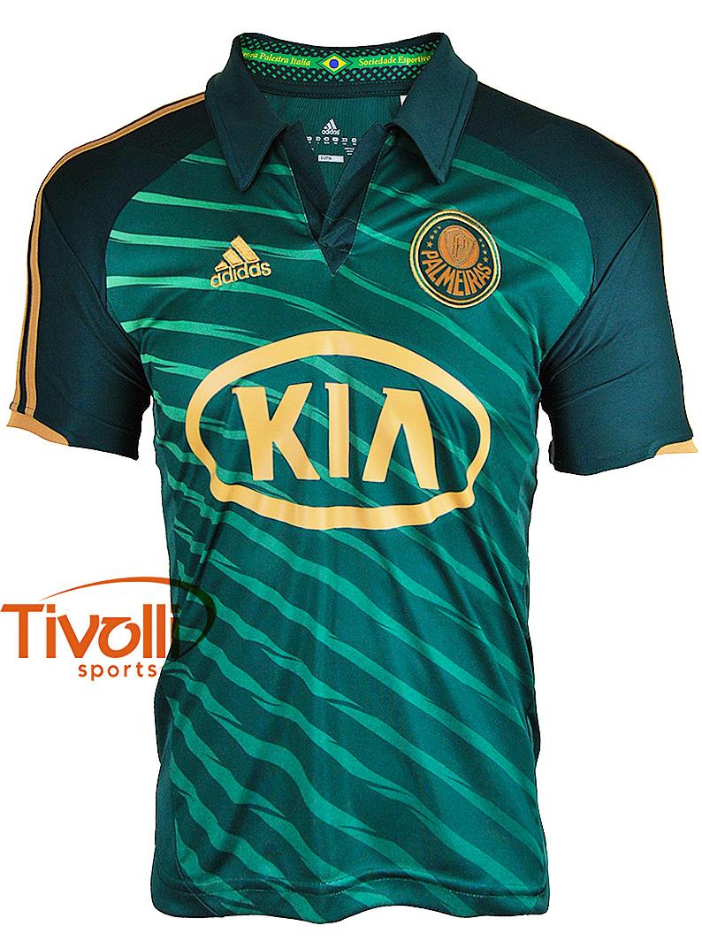 Camisa Palmeiras III 2012 Boys Adidas   Verde Dourado - Ref  W67873   4f12236e50932
