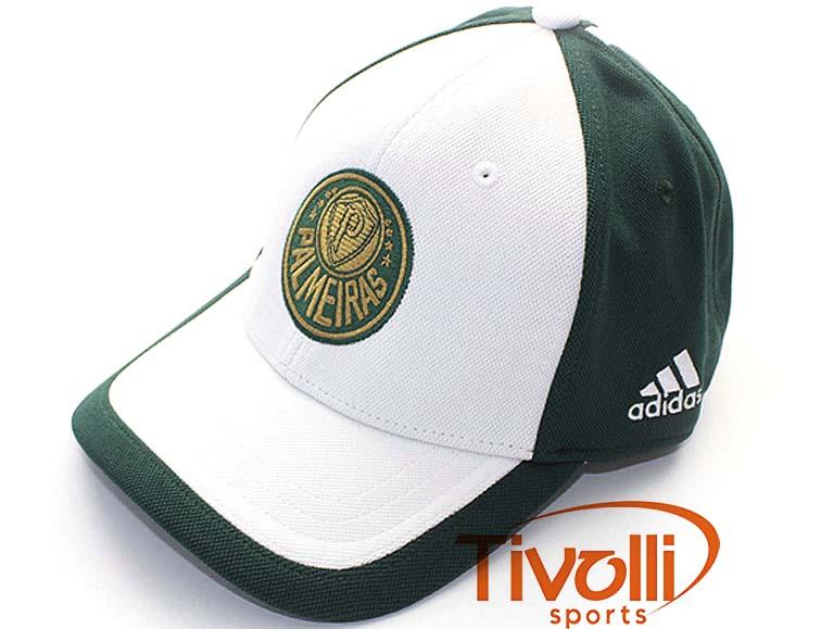 Boné Palmeiras III Adidas   Verde Branco - Ref  W40489   fc9fbcf007d