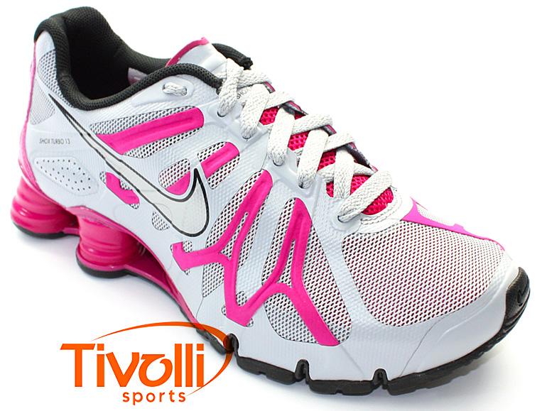 9721c317333 Tênis Nike Shox Turbo+ 13 Feminino   Cinza Pink - Ref  525156-006