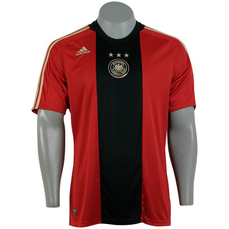 f8379e167872c Camisa 2 da Alemanha 2009   Vermelha Preto - Ref  860148