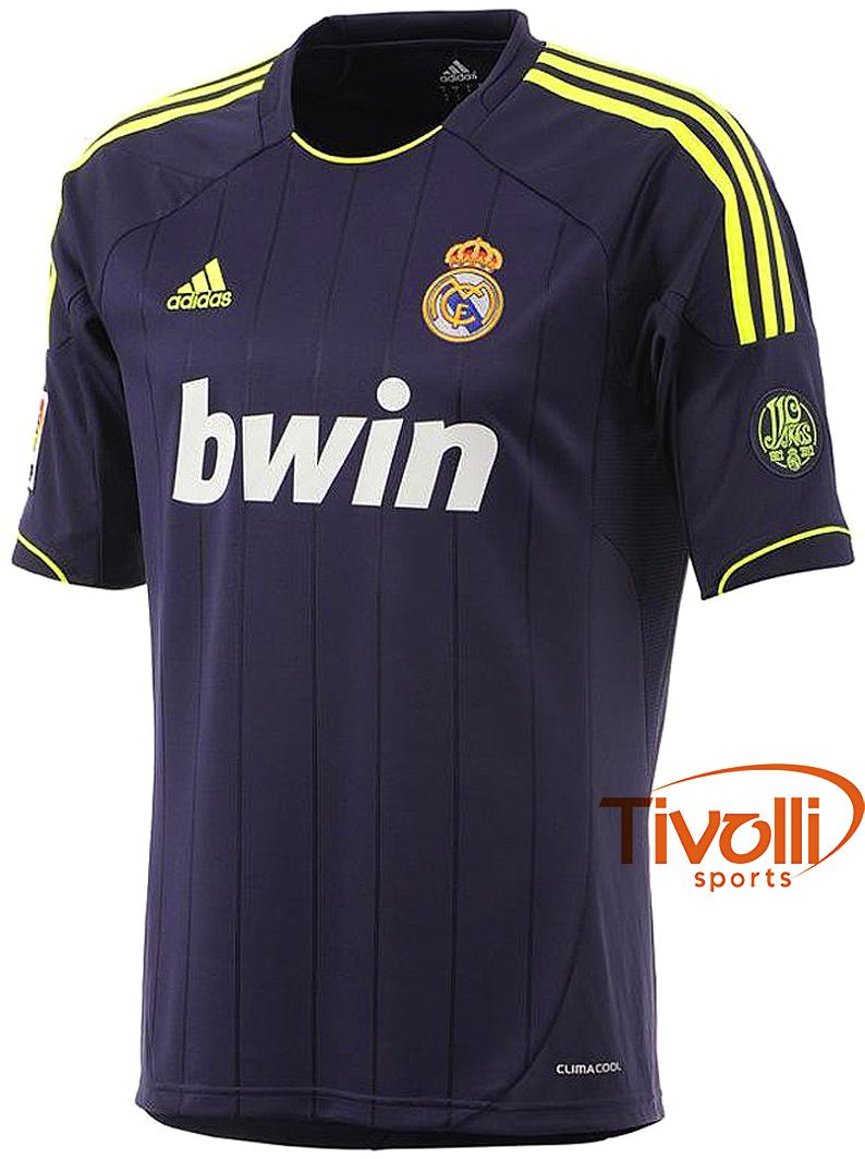 Black Friday - Camisa Adidas Real Madrid II 2012   marinho e verde ... dc01af7d26168