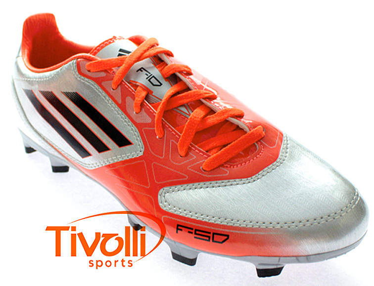 Chuteira Adidas F10 TRX FG   Prata Laranja- Ref  V21312   c1bc39f5c285e